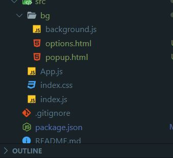 options popup react chrome extension