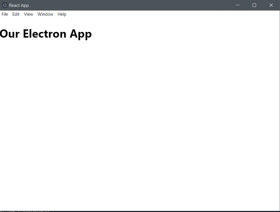 electron with create-react-app