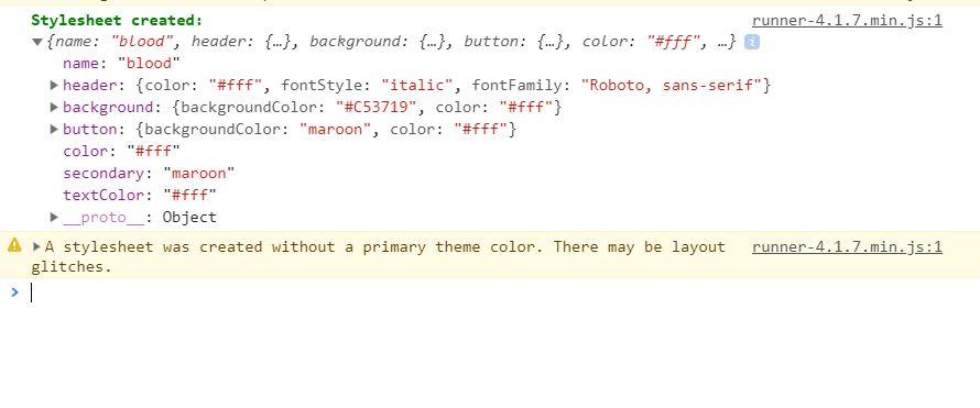 debug mode theme decorator javascript console log messages
