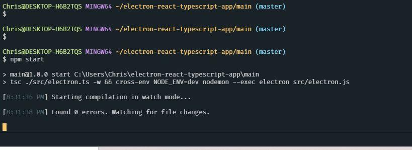 cli npm run electron