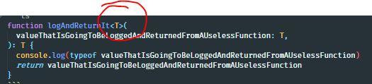 generic type declaration in typescript