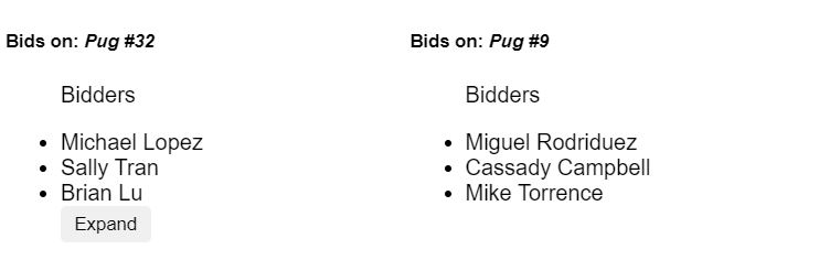 list-bids-pug-react-reusable-component